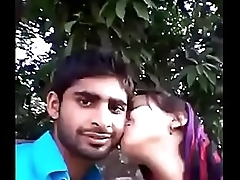 Indian desi couple kissing